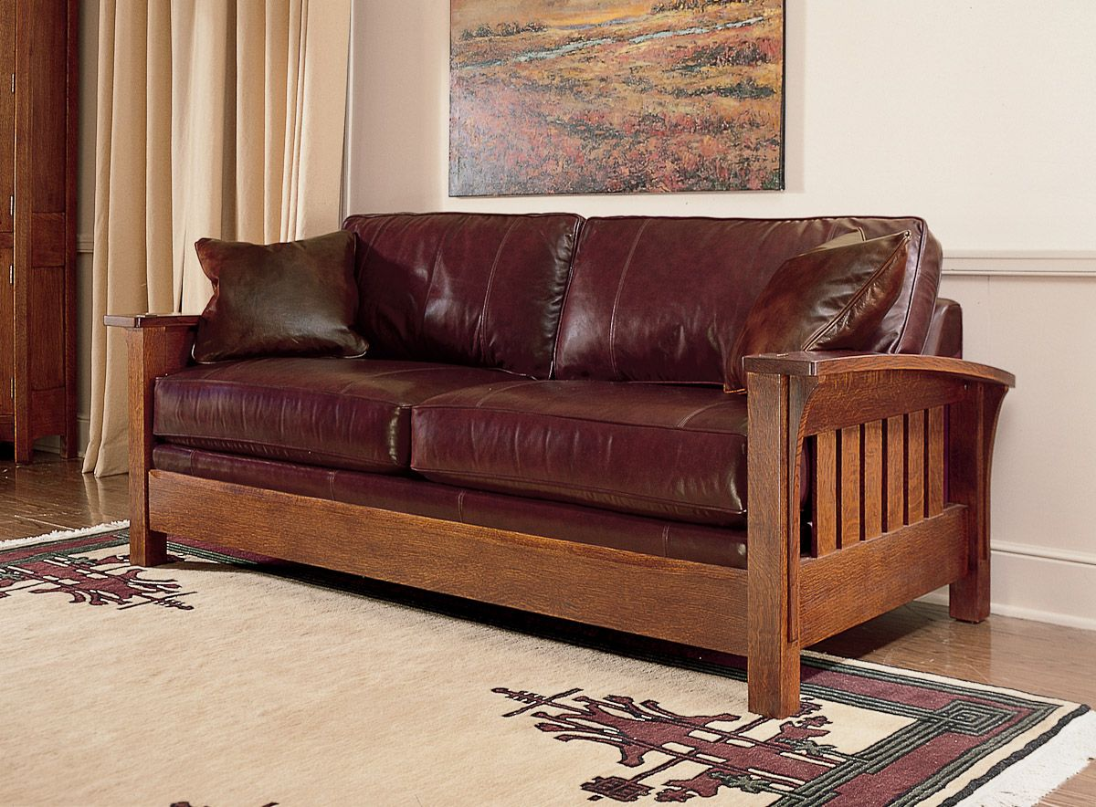 stickley furniture leather sofas high back corner sofa orchard street living in