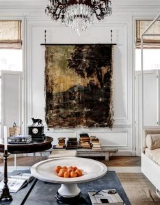 The rich textures make this room  also love shutters that look more like family designfamily rh pinterest