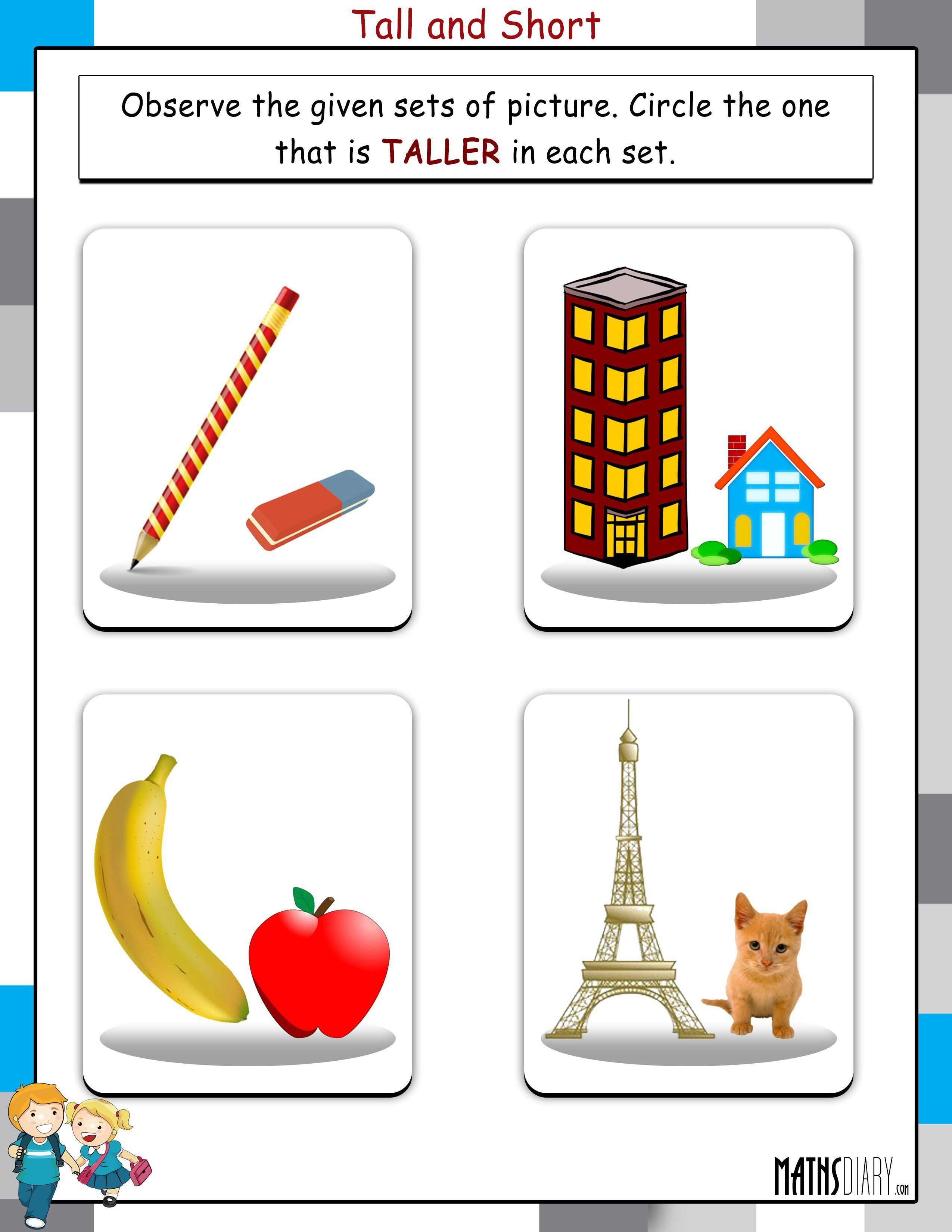 Image From Thsdiary Wp Content Uploads 07 Tall And Short Worksheet 1