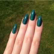 ultra holographic green-teal stiletto