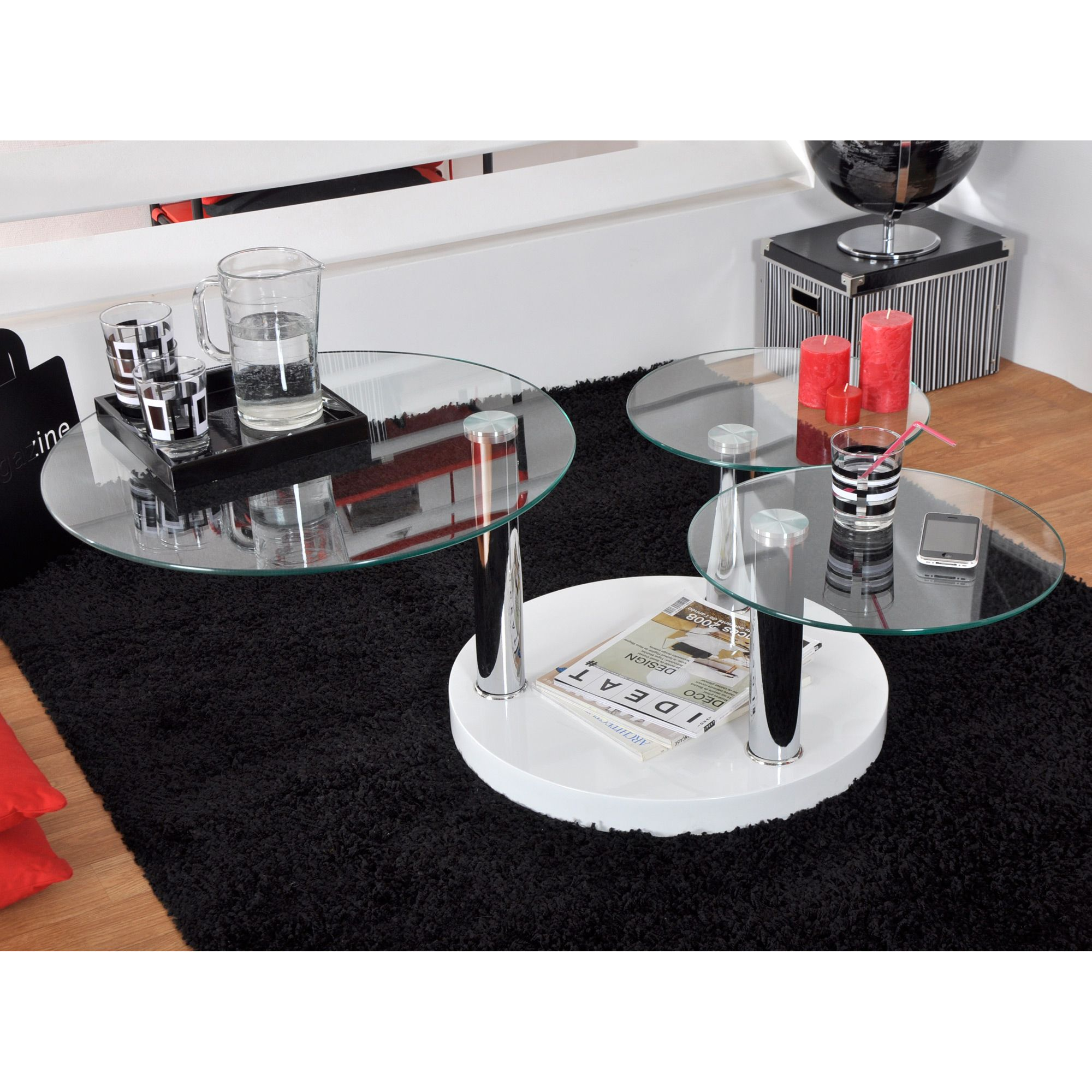 Table Basse Relevable Gloria Laqu Blanc Table basse relevable
