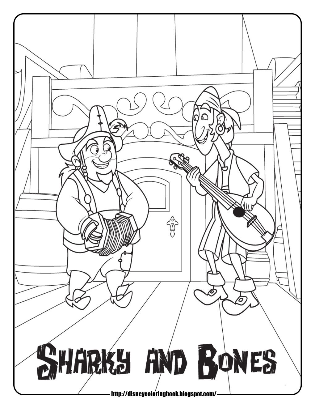 jake and the never land pirates coloring pages sharky and