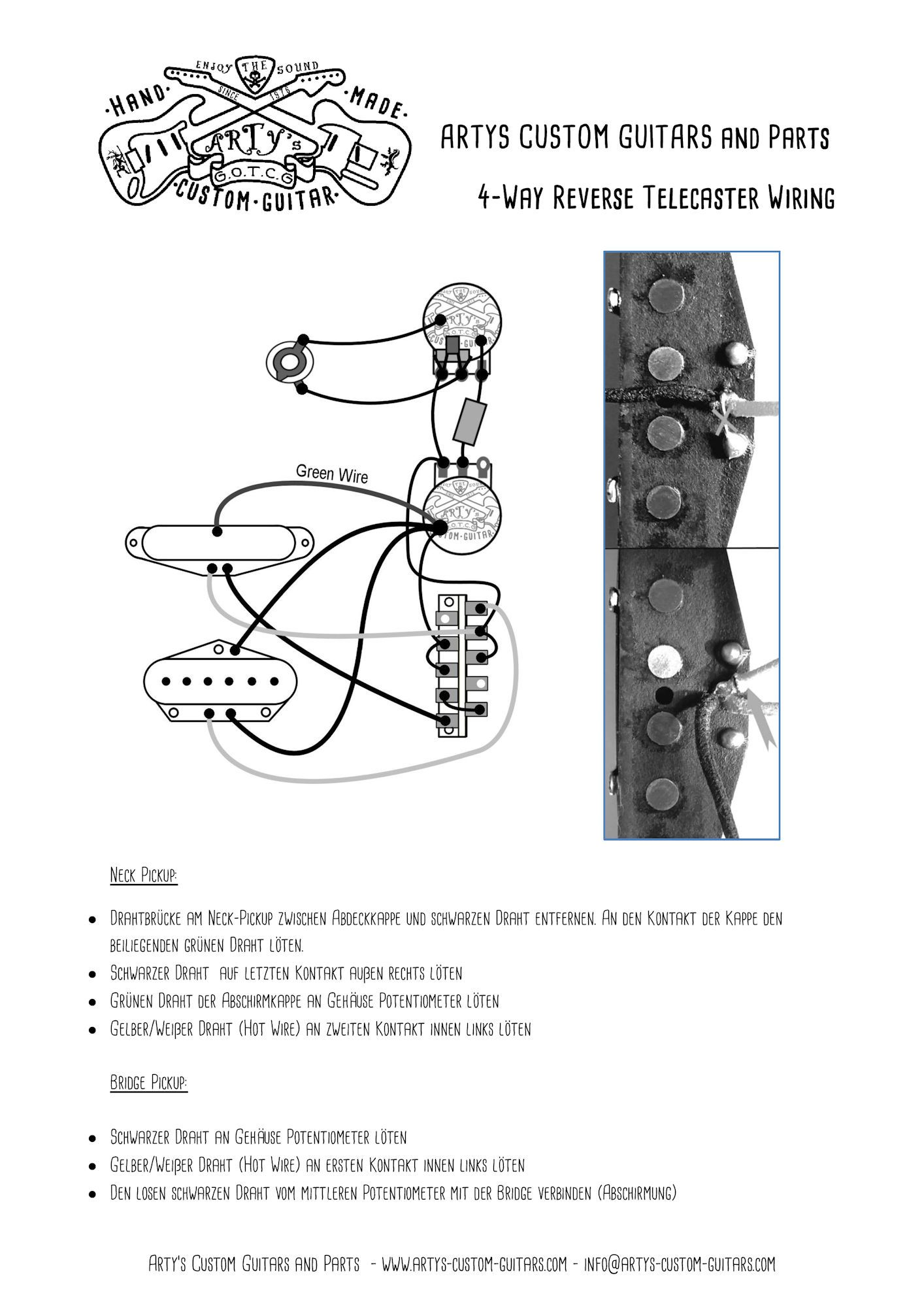 Telecaster Custom Wiring Diagram : 32 Wiring Diagram