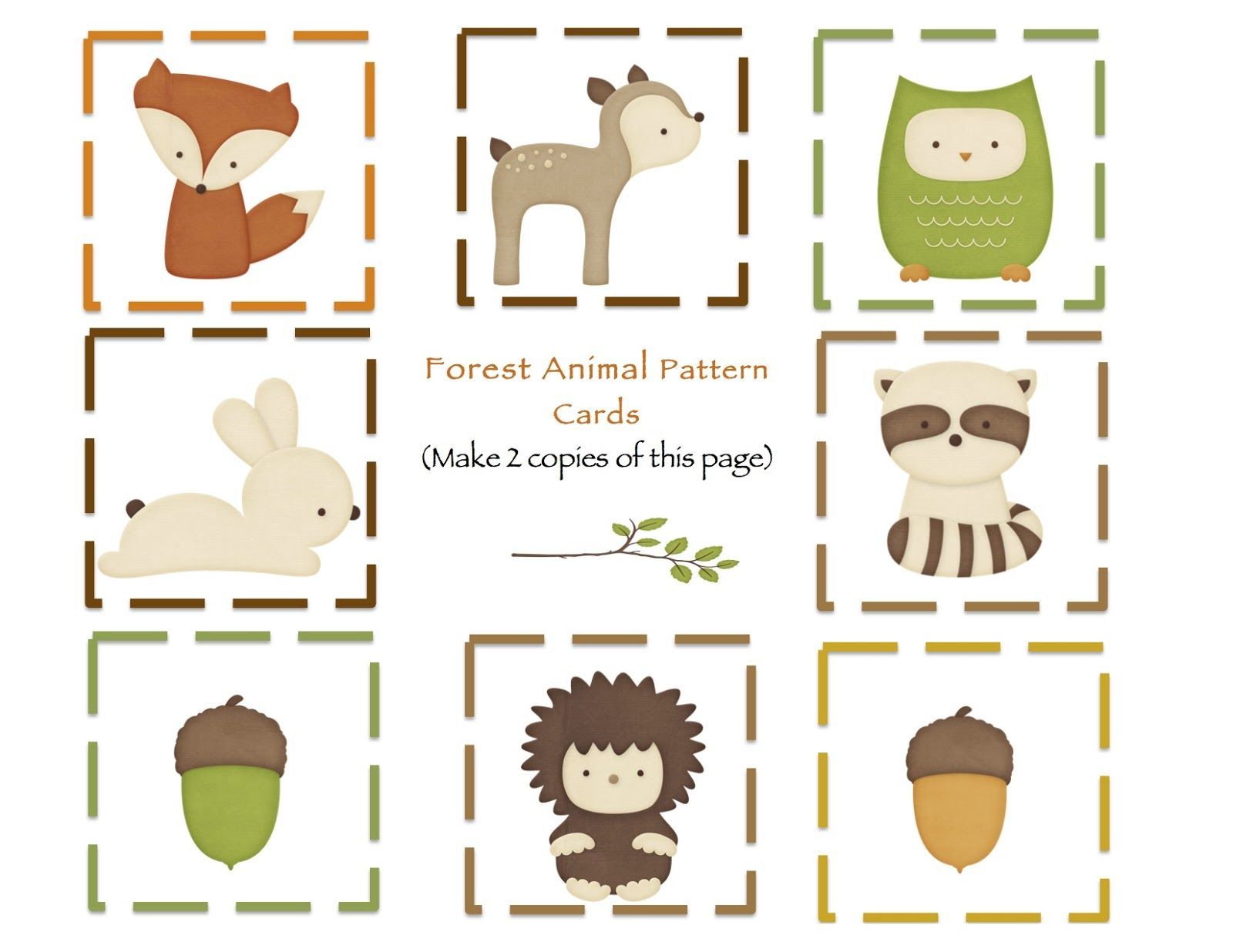 Forest Animal Printables