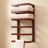 Mahogany Hanging Towel Rack