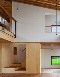 Great forms colors and white  wood combination houseym by fumihito ohashi architecture studio home also images about houses on pinterest house interiors studios rh