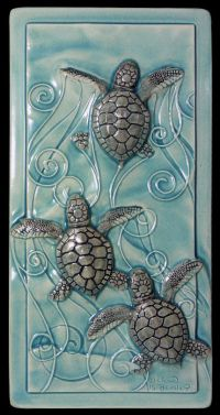 Home decor, art tile, ceramic tile, Magic in the Water ...