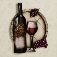 Cellar Reds Wine and Grape Metal Wall Art
