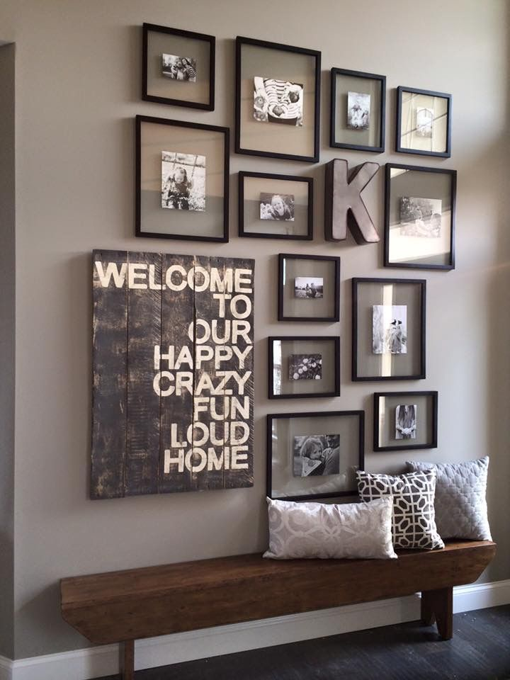Entry Way Ideas; Little Too Busy On The Wall But Cute Idea Our