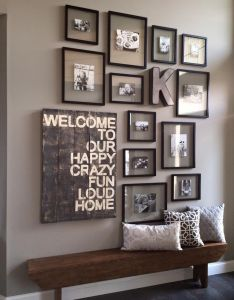 Entry way ideas little too busy on the wall but cute idea also for my rh nz pinterest
