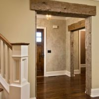 Reclaimed Beam Over Doorways | Barn Board Wall | Interior ...