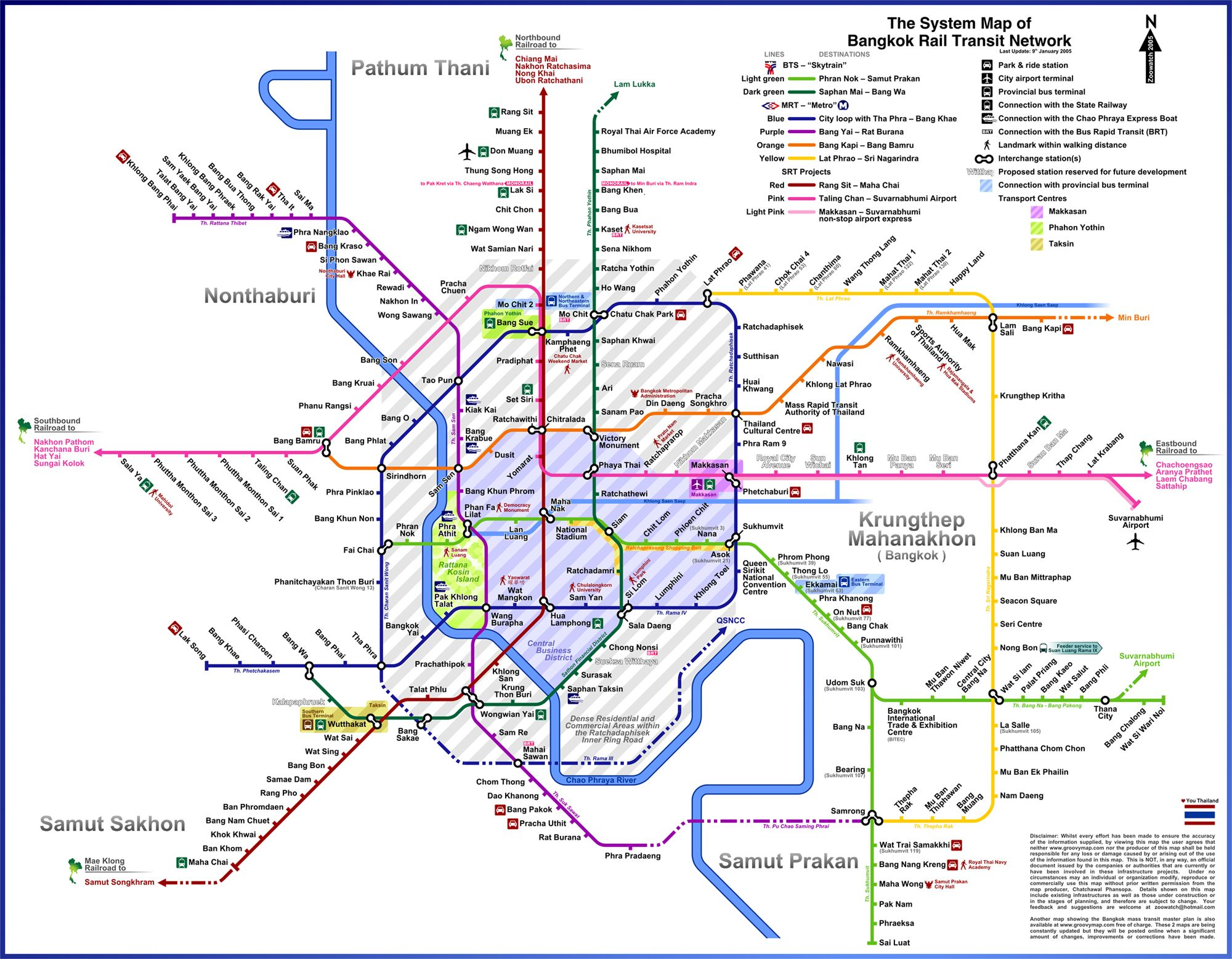 detail bangkok map for travelers guidebangkok city bts skytrain