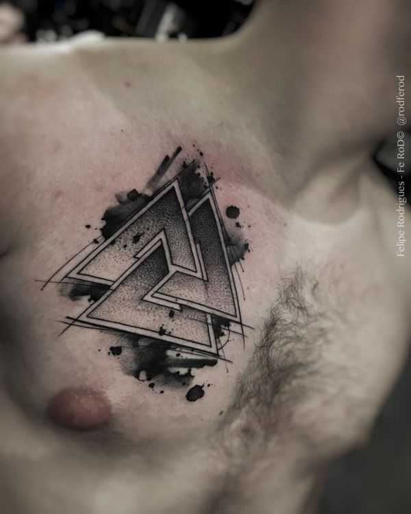 Viking Symbols Tattoos Odins Triangle - Year of Clean Water