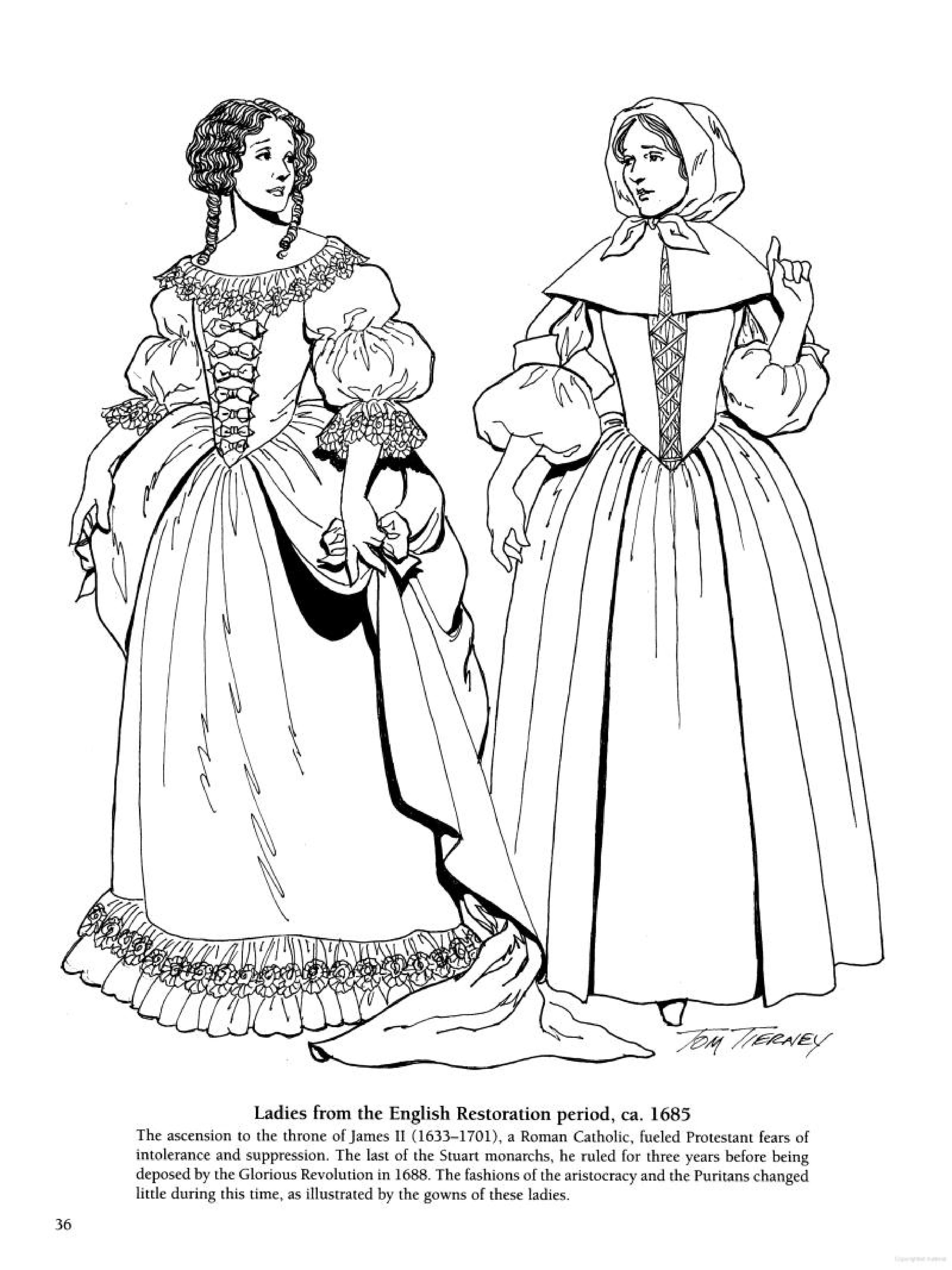 Cavalier and Puritan Fashions Ladies from the English