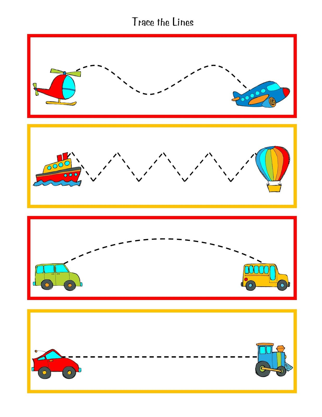 Great To Practice Pre Writing Skills During Transportation Week Put This In Your Handwriting