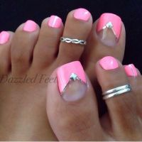 Pink wedding toe nail design for brides | toes | Pinterest ...