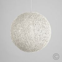 Modern Large White Lattice Wicker Rattan Globe Ball Style ...