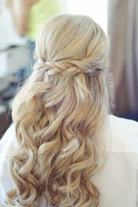 Half up half down, bridal hair, wedding hair, bride ...