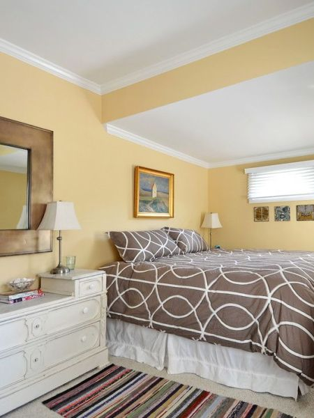 gold bedroom paint colors Benjamin Moore Autumn Gold is yellow without being too bright - perfect for a cheerful yet