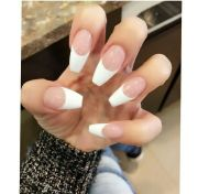 french tip coffin shape nails