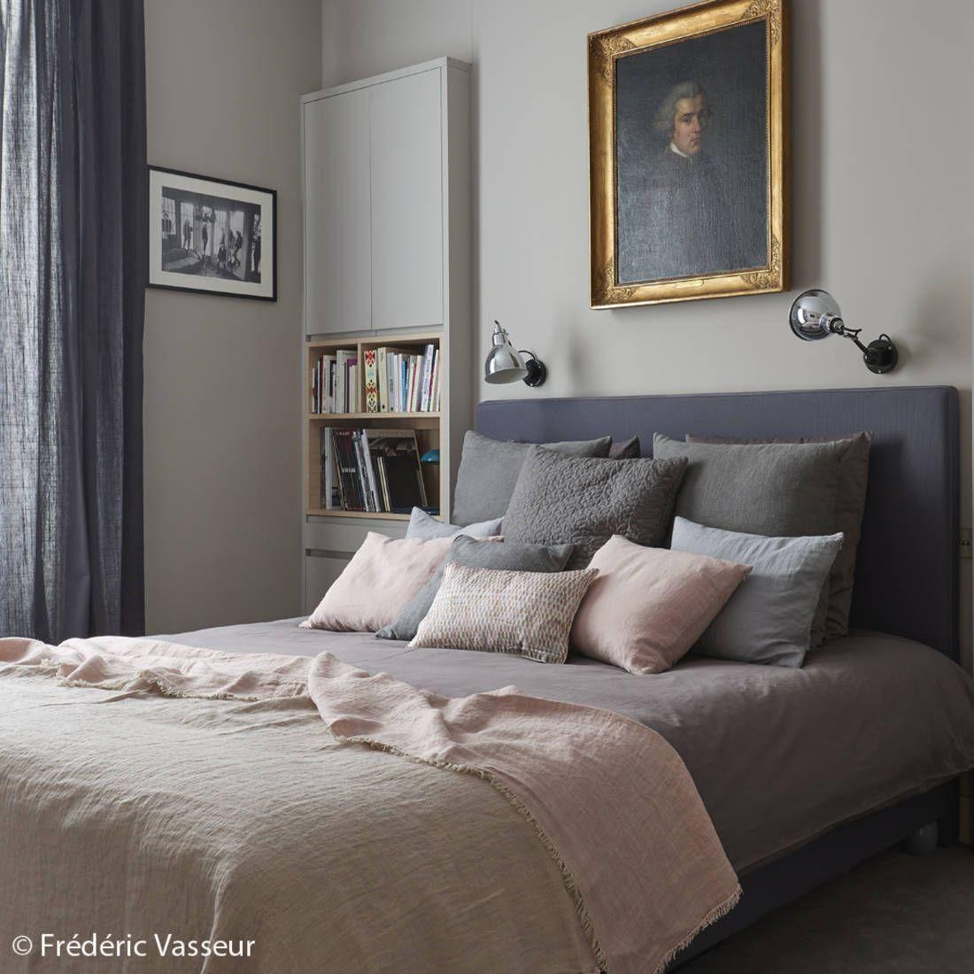 Une chambre rose et grise  Le gris toujours aussi tendance  Elle Dcoration  September 2016