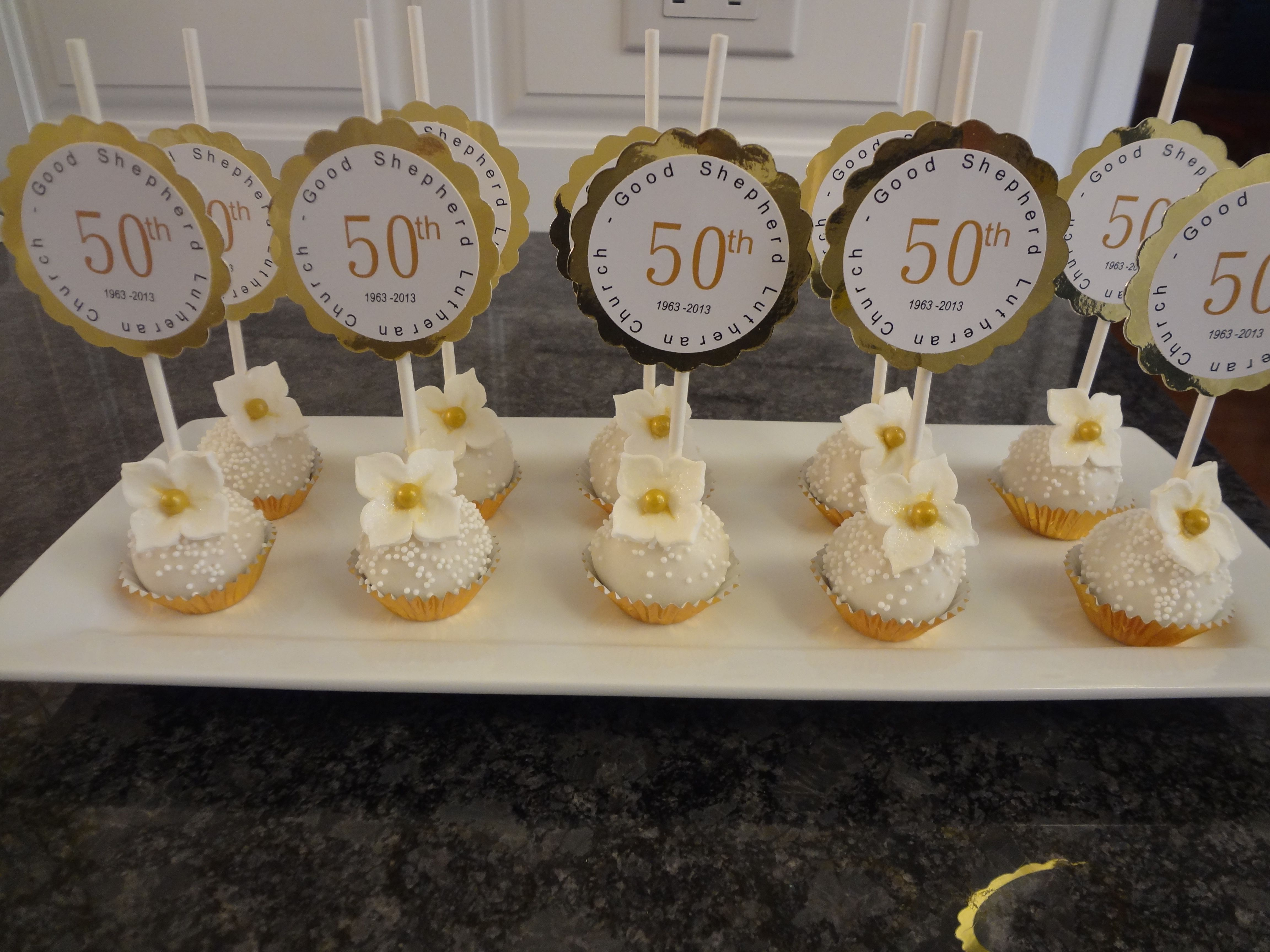 Cake Pops For 50th Anniversary