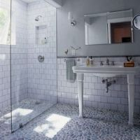 Bathroom , Subway Tile Bathroom Walls : Old Style Subway