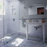 Bathroom , Subway Tile Bathroom Walls : Old Style Subway ...