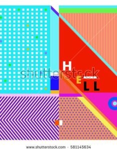 Trendy vector summer cards illustration with line elements and abstract colorful textures design for poster also rh za pinterest
