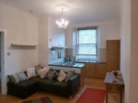 open plan kitchens living area in a small flat /apartment ...