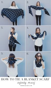 FOUR WAYS TO TIE A BLANKET SCARF | Infinity, Blanket and ...