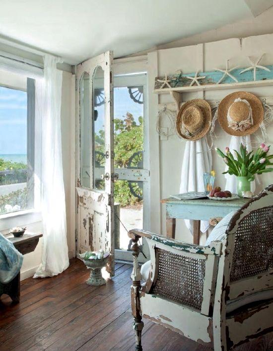 Shabby Chic Beach on Pinterest  Florida Decorating Beach Hut Interior and Seaside Cottage Decor
