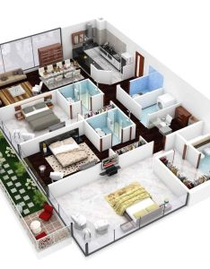 We feature three bedroom home plans in this massive post also includes links to and studio apartment floor disenos de interiores casas planos buscar con google sims rh pinterest