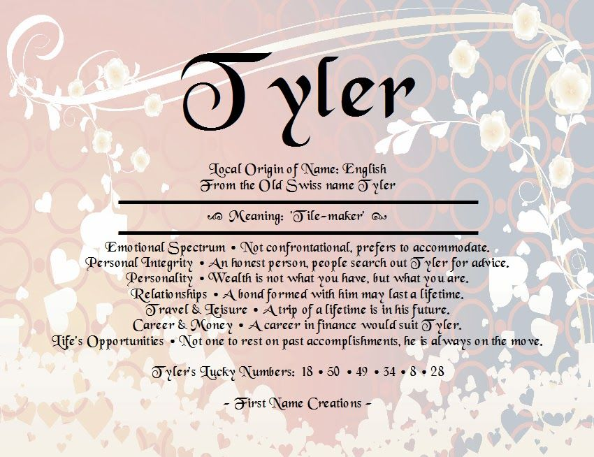 Tyler name and meaning   motherhood   Pinterest