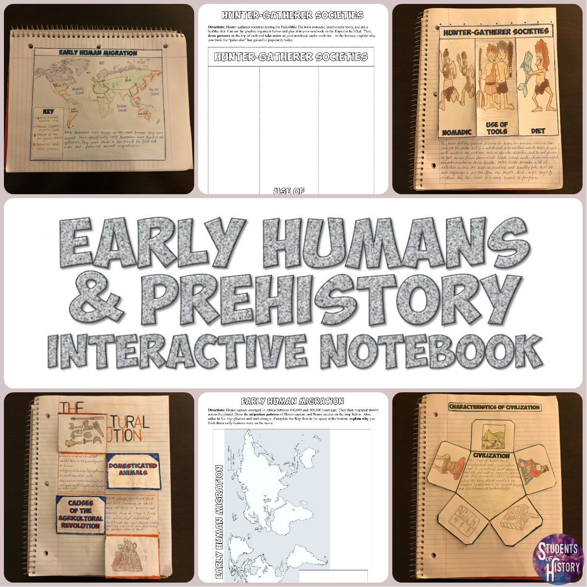 Prehistory And Early Humans Notebook Activities Great For