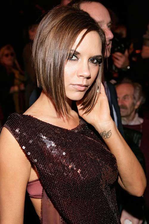Victoria Beckham Brown Bob Hairstyles Victoria Beckham