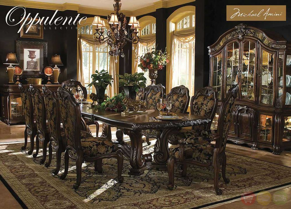 Oppulente Luxury Piece Formal Dining Room Set China Cabinet Michael AminiMichael Amini Dining Room Craigslist   Ideasidea. Michael Amini Dining Room Craigslist. Home Design Ideas