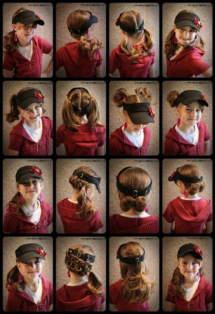 Girly Dos By Jenn Visor Hat Hair Ideas Girly Do Hairstyles