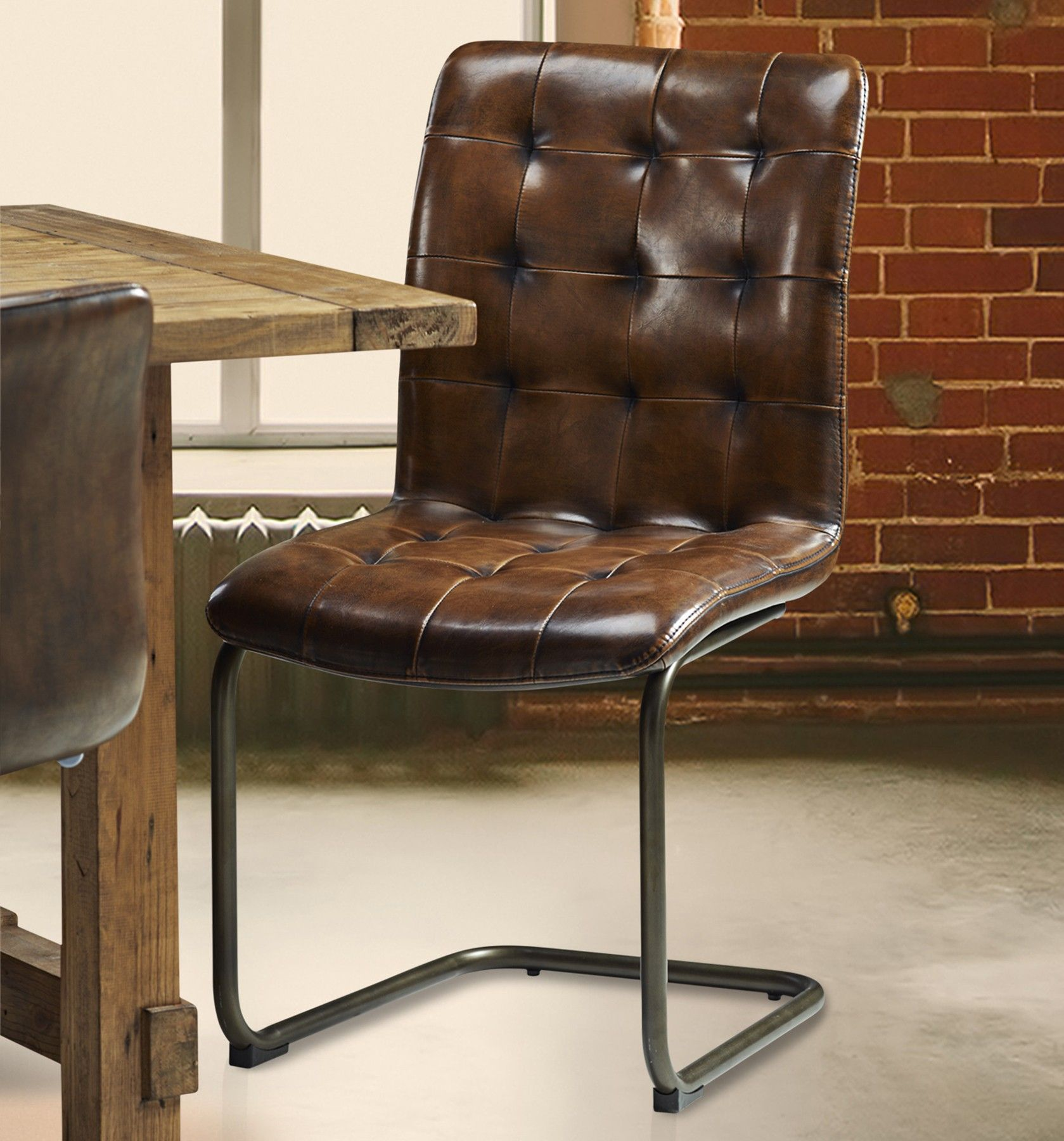 Metal And Leather Chair Vintage Tall Leather Dining Chair Vintage Leather Chair