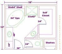 bathroom floor plans | ... Bathroom Design 13x15 Size/Free ...