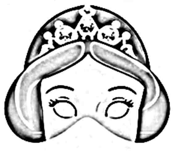 Mascaras De Princesas Para Imprimir Pintar Y Recortar