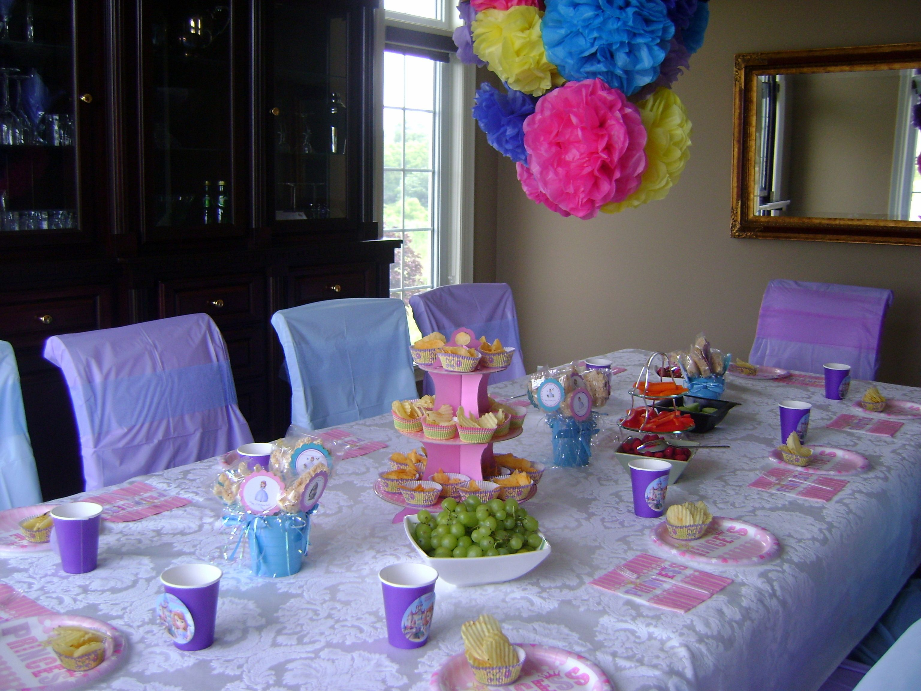 Sofia The First Birthday Table Decorations
