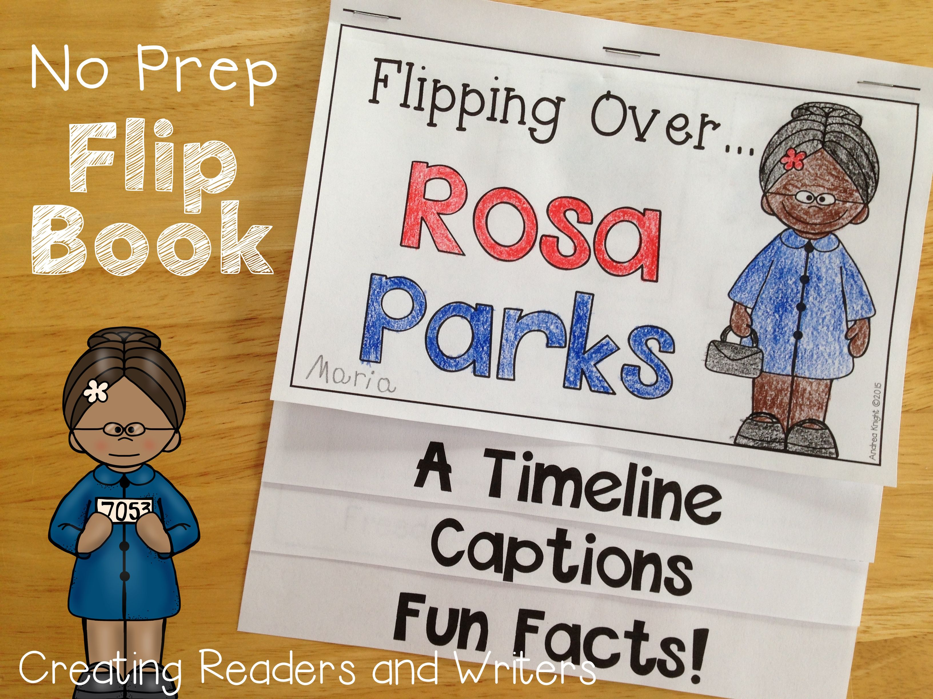 Flipping Over Rosa Parks An Informational Flip Book For
