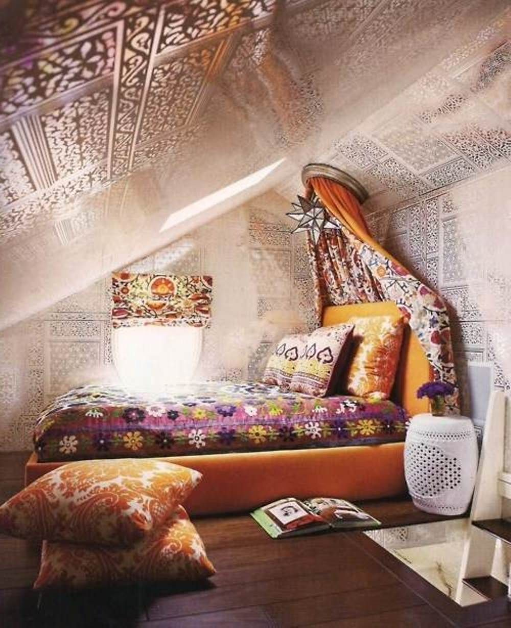 Attic Bedroom With A Hippie Vibe  Hippie Boho Chic Style  Pinterest  Attic bedrooms Attic