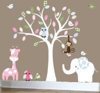 Tree+Wall+Decals+For+Nursery | Jungle wall decal - nursery ...