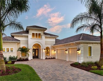 One Story Mediterranean House Design Ideas Mediterranean Home