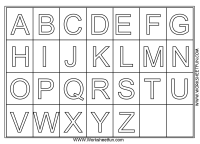Worksheets For Pre K Alphabet