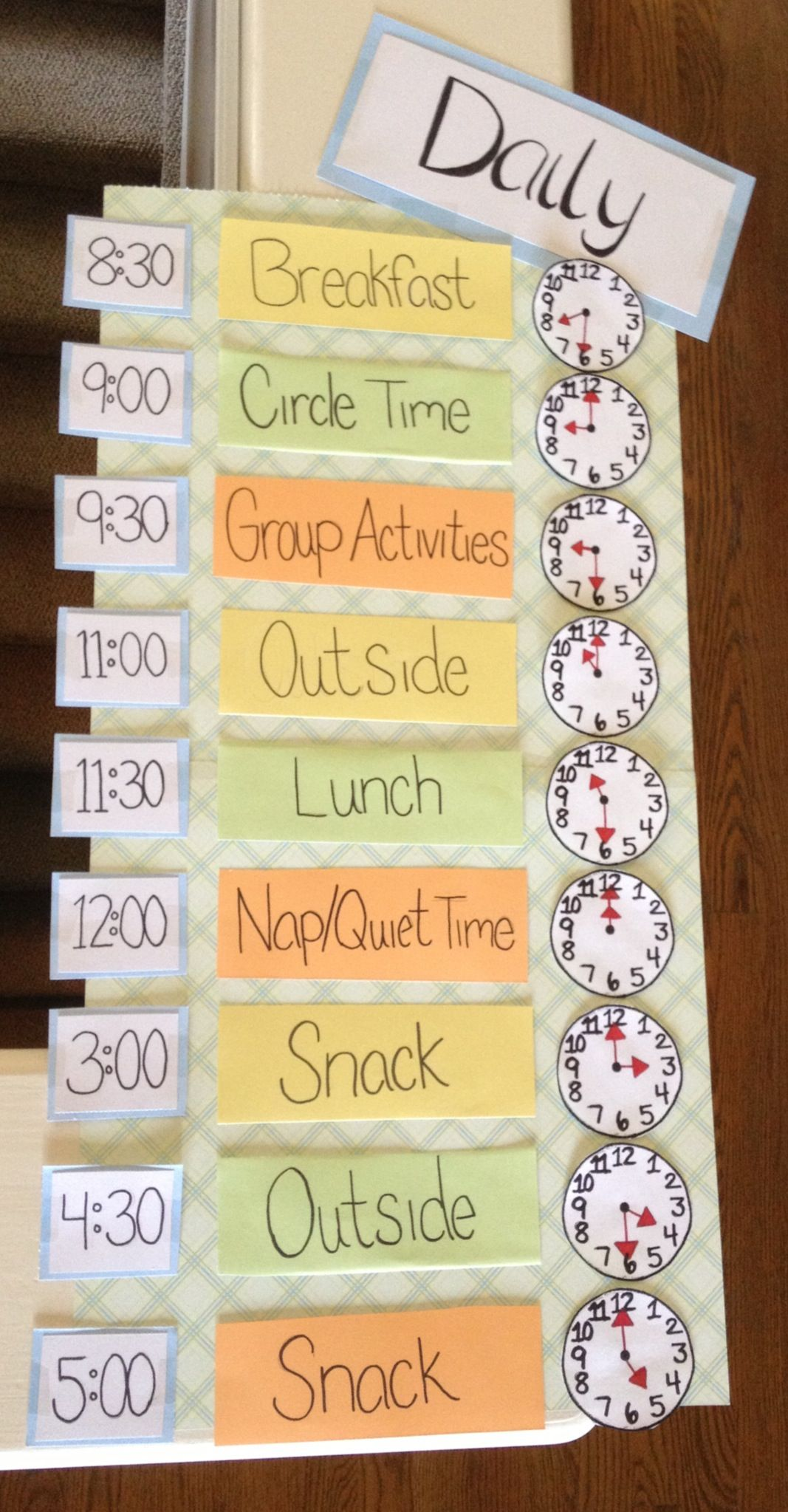 I Made This Daily Schedule For Early Childhood Education