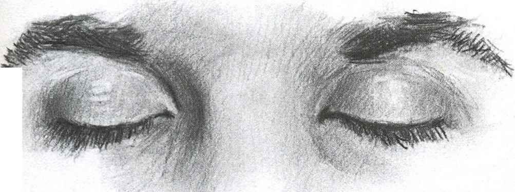 Crying Eyes Closed Drawn