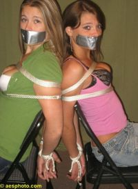 thexpaul2:  Arielle Moran & Serena Mitchell chair-tied ...